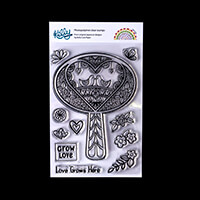 Kelly Cuts Paper A6 Stamp Set - Folk Tree-835667