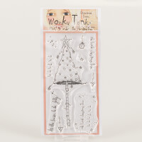 Which Craft? Wonky Tonk Christmas Trees DL Stamp Set - Meet Me Un-837411