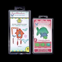 Spellbinders Set of 2 Dies - Cuckoo Clock & Nested Fish - 12 Dies-837895