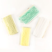 Craft Buddy 80m of 60mm Scalloped Edge Lace in 4 Colours-837916