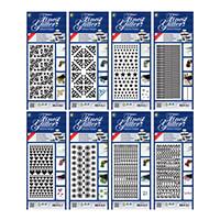 JEJE Produkt 8 Sheets of Finest Glitter Adhesive Designs-838709