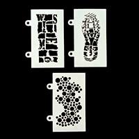Tando Creative 3 x Assorted Stencils Bundle-839392