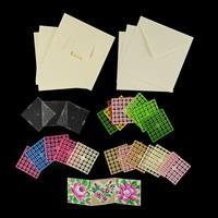 Pixelhobby UK Card Kit - 3 x Mini Baseplates, 3 x Cards with Enve-840201