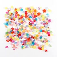 Impressions Crafts Assorted 100g Lucite Flower Beads - Summer Mix-840550