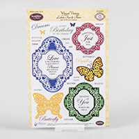 JustRite® Clear Stamp Set - Winged Vintage Labels Two & Three - 2-841903
