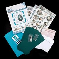 Add Some Sparkle Wintertime Paper Embroidery Kit - Makes 12 Cards-844092