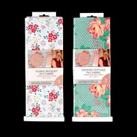 Sew Lovely PVC Fabric - Country Cottage & Floral Bouquet-845570