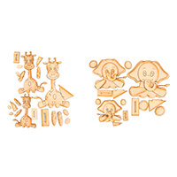 Karacter Krafts Pick n Mix Set of 2 MDF Family of 3 Go Wild Anima-848653