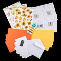 Add Some Sparkle Sunny Days Paper Embroidery Kit - Makes 8 Cards-850821
