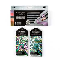 Spectrum Noir NEW 6 x Antique Elements Metallic Markers & 2 x Col-851085