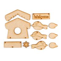 Karacter Krafts Cute Birdhouse with 6 Extra Embellishments-851401