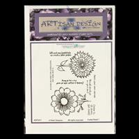 Artisan Design Funky Floral A6 Stamp Sheet - Funky 7-852474