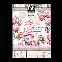 FabScraps Life is Beautiful A4 Paper Pad - 24 x Double Sided Patt-853814