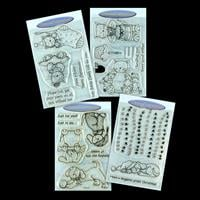 Personal Impressions 4 x Stamp Sets - Cat & Dog Collection - 20 S-855525