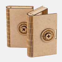Samantha K 2 x Locking Book Boxes - MDF Book Boxes with Safe Styl-855586