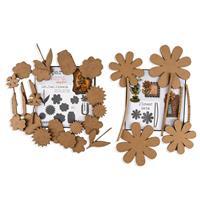 Studio 490 2 x Art Parts MDF Kits - Flower Sets & Not Just Flower-856552