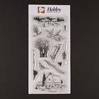 Hobby Art Farmhouse DL Clear Stamp Set designed by Sharon Bennett-856838