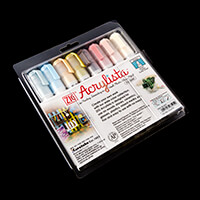 ZIG® Acrylista™ - Set of 8 Water-Based Pigment Multi Surface Pens-857672