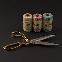 The Makery - Fabric Scissors & 3 Sets of Bakers Twine-858557