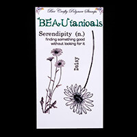 Bee Crafty BEAUtanicals Stamp Set - Daisy - 4 Stamps Total-861565