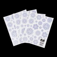 Christmas Window Stickers - Glitter Snowflakes - 128 Stickers Tot-863835
