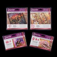 Die'sire 4 x Mixed Media Die Sets - Maple Leaves, Tree, Rosettes -864628