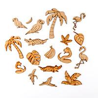 Karacter Krafts Pack of 18 Jungle Themed Embellishments-865184