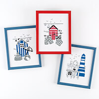 Permin Seaside Set of 3 Images Cross Stitch Kits-865215
