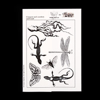 France Papillon A5 Rubber Stamp Set-866771