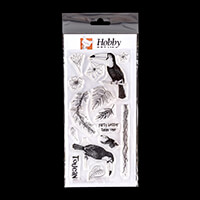 Hobby Art Janie's Collection - Toucans DL Clear Stamp Set - 15 St-867122