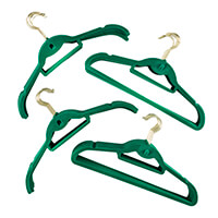 Velour Non-Slip Teal Coat Hangers - 20 With Trouser Bar & 20 With-868384