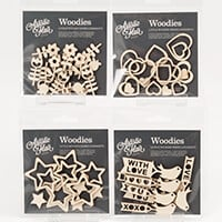 Artistic Flair Pack of 4 Assorted Woodies-870475