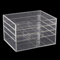Clear Acrylic 4 Drawer Storage Box - 32x25x20cm-873236