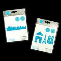 Tonic Rococo 2 x Die Sets - Paris Landmarks & City Skyline - 5 Di-873937