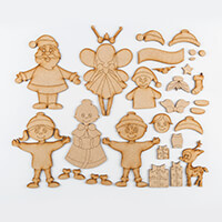 Karacter Krafts 5 x MDF Whimsical Characters with Embellishments-875693