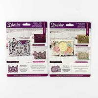 Die'sire Create a Card Die Set - Floral Spray & Traditional Lace -876591