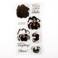 Impression Obsession Layered Pansy Stamp Set - 8 Stamps-877291