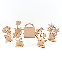 Daisy's Flowers and Watering Can MDF Kit-878485