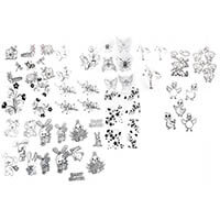 Art & Craft Glitter Greetings Pack of 12 Acetate Natures Little C-878795