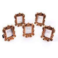 Craft Buddy Set of 5 Rose Gold Coloured  Resin Photo Frames - 2.5-881064