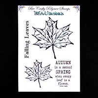 Bee Crafty BEAUtanicals Stamp Set - Maple - 4 Stamps Total-882502