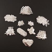 Dawn Bibby 100 Piece Metal Christmas Embellishments Set-882826
