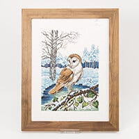 Permin Barn Owl Cross Stitch Kit - 34cm x 41cm-883433