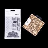 Kaisercraft Scrap Studio Butterfly Stamp Set & Laser Cut Wooden S-885996