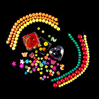 Applicraft Beads and Accessories Bundle - Wooden Beads, Embellish-889048