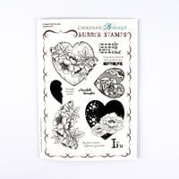 Chocolate Baroque A Heart Full of Love A5 Stamp Sheet - 11 Images-890818
