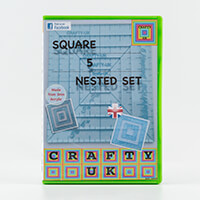 Crafty UK Set of 5 Nested Squares Templates-891377