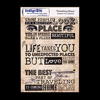 IndigoBlu A5 Red Rubber Stamp  - Travelling Home (Ian Campbell)-892125