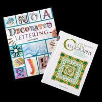 Set of 2 Decorative Writing Books - Celtic Calligraphy & Decorate-893016