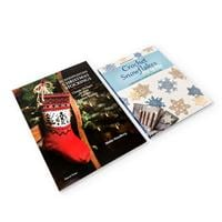 Search Press 2 x Tutorial Books - Crochet Snowflakes & Scandinavi-893062